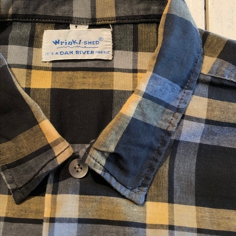 "1950s \"" Wrinki - SHED \"" - DAN RIVER Fabric - 100% Pima cotton VINTAGE BOX-TAIL CHECK SHIRTS ※ レアカラー_d0172088_17374984.jpg"