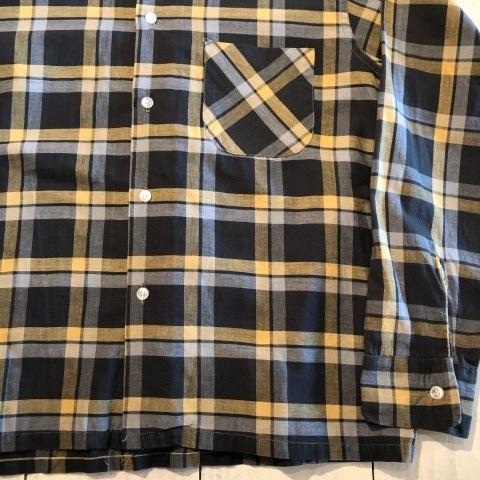 "1950s \"" Wrinki - SHED \"" - DAN RIVER Fabric - 100% Pima cotton VINTAGE BOX-TAIL CHECK SHIRTS ※ レアカラー_d0172088_17491315.jpg"