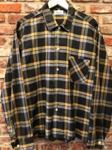 "1950s \"" Wrinki - SHED \"" - DAN RIVER Fabric - 100% Pima cotton VINTAGE BOX-TAIL CHECK SHIRTS ※ レアカラー_d0172088_17535167.jpg"