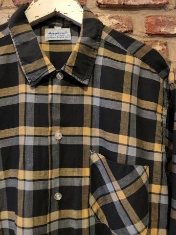 "1950s \"" Wrinki - SHED \"" - DAN RIVER Fabric - 100% Pima cotton VINTAGE BOX-TAIL CHECK SHIRTS ※ レアカラー_d0172088_17573402.jpg"