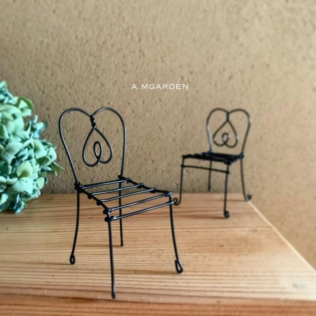 100均のカラーワイヤーで可愛い椅子。_b0125443_17261874.jpeg