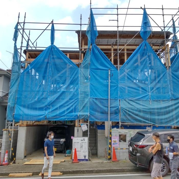 「横浜港北の家」上棟_f0230666_09480972.jpg