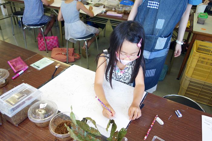 児童画クラス「カブトムシを描こう」_b0212226_11135310.jpg