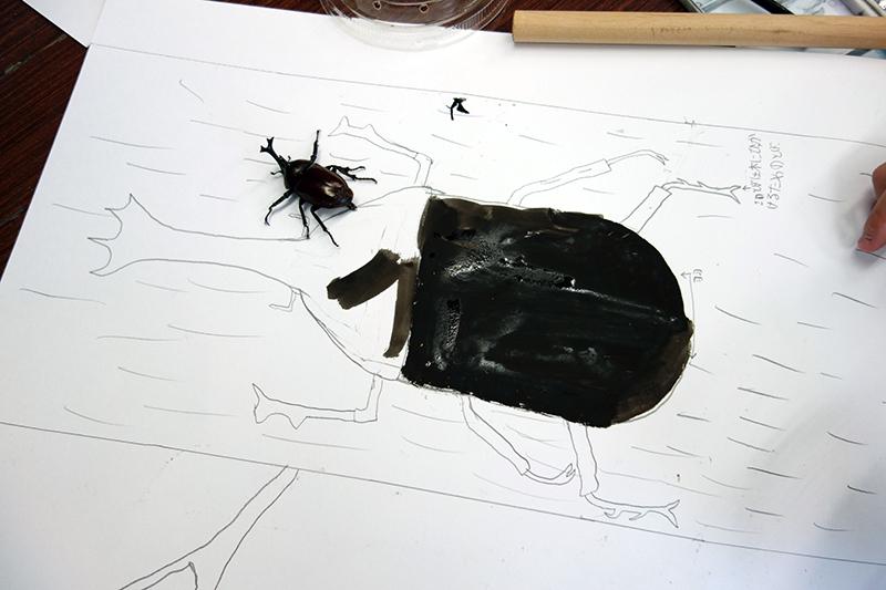 児童画クラス「カブトムシを描こう」_b0212226_11174336.jpg