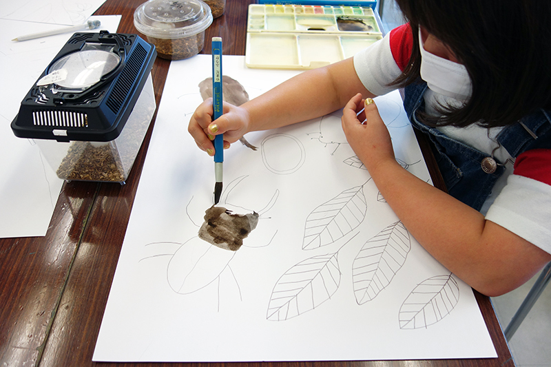 児童画クラス「カブトムシを描こう」_b0212226_11180912.jpg