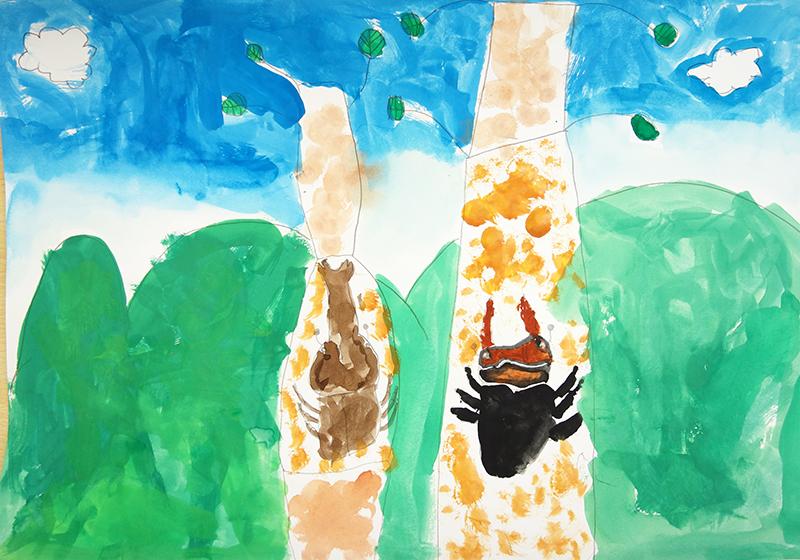 児童画クラス「カブトムシを描こう」_b0212226_11243667.jpg