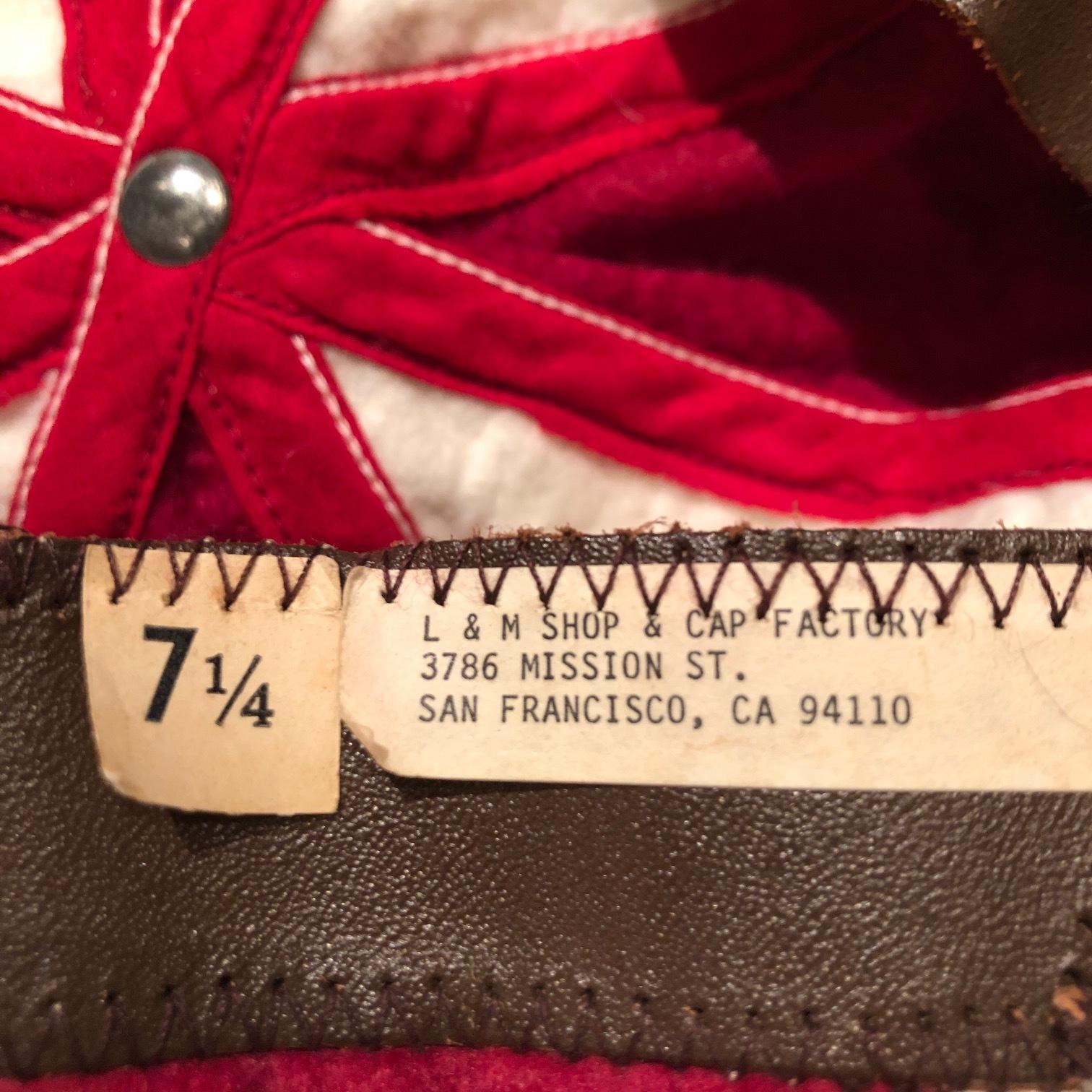 """1950s \"""" L&M CAP FACTORY - SAN FRANCISCO - \"""" VINTAGE - FELT 8PANEL - BICOLOR CASQUETTE ._d0172088_20491182.jpg"""
