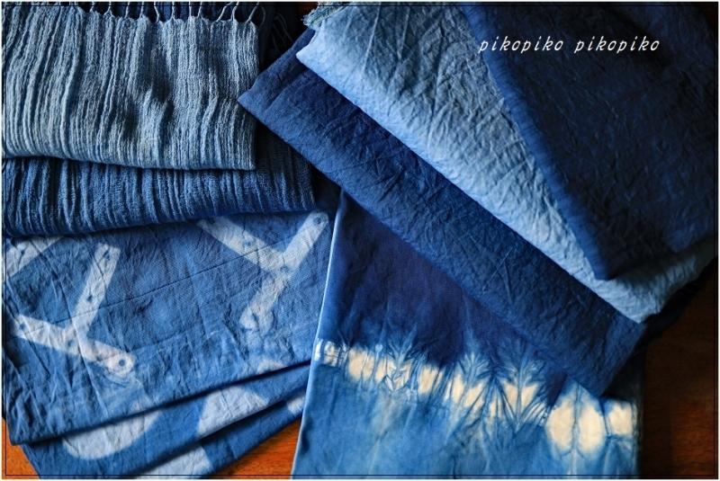 藍染   洗いざらし (麻  木綿)