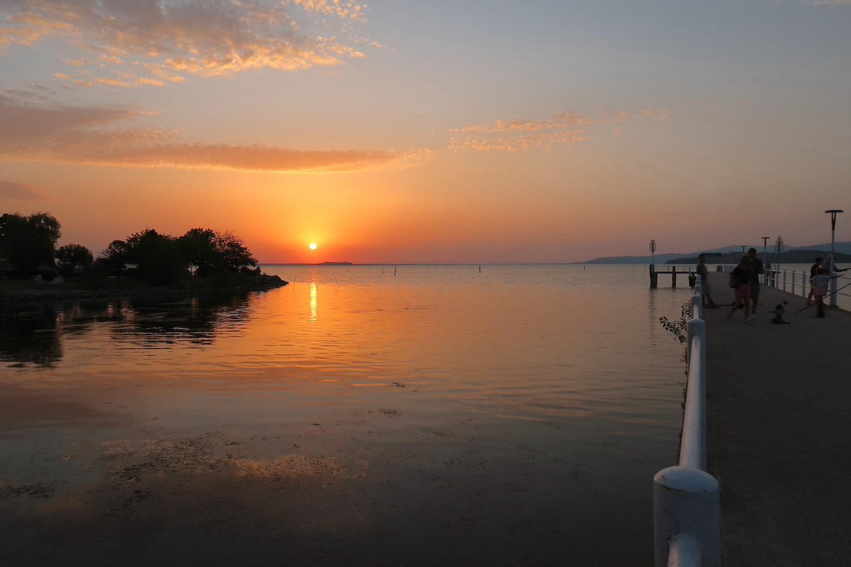猫かわいい夕焼けの湖と歯医者はつらいよ_f0234936_22582301.jpg