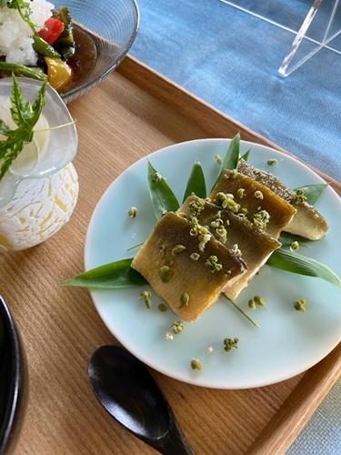 鮎料理と山椒仕事  7月の料理教室から_d0253553_13305140.jpg