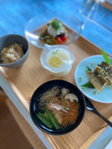 鮎料理と山椒仕事  7月の料理教室から_d0253553_13354668.jpg