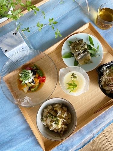 鮎料理と山椒仕事  7月の料理教室から_d0253553_13491702.jpg