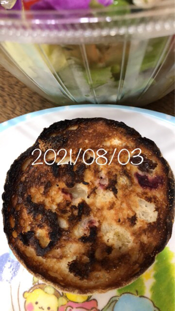 2021/08/03 昼 血糖値&インスリン注射&食事写真_b0056758_22195996.jpg