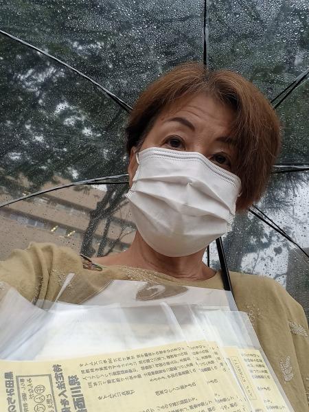 ☔あらら雨の朝は川西病院前から💦相談が続きます🙆困ったを取り除く政治😊_f0061067_21531938.jpg
