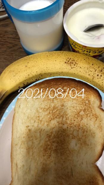 2021/08/04 朝 血糖値&インスリン注射&食事写真_b0056758_23260023.jpg