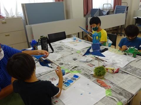 夏休み工作教室2021「段ボール材で恐竜を作ろう」_a0269923_17484802.jpg