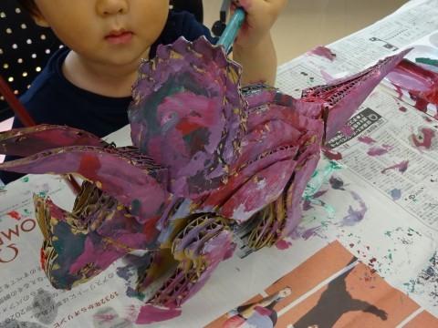 夏休み工作教室2021「段ボール材で恐竜を作ろう」_a0269923_17485204.jpg