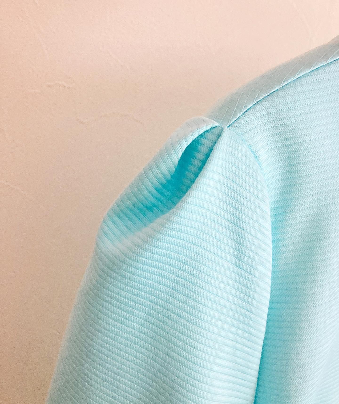 袖にタックの入ったウエスト切り替えワンピース (フルオーダー)_b0199696_13453769.jpg