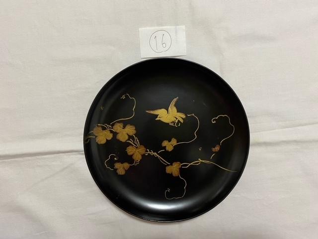 絵替わりの黒塗り蒔絵皿。_c0405112_12272659.jpeg