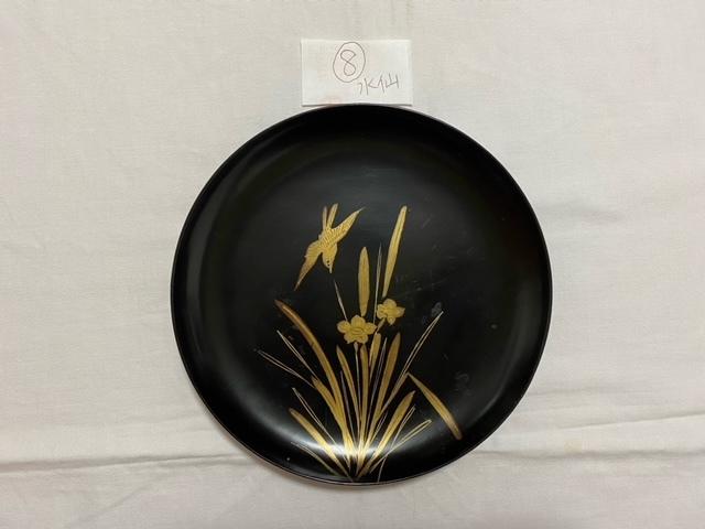 絵替わりの黒塗り蒔絵皿。_c0405112_12281570.jpeg