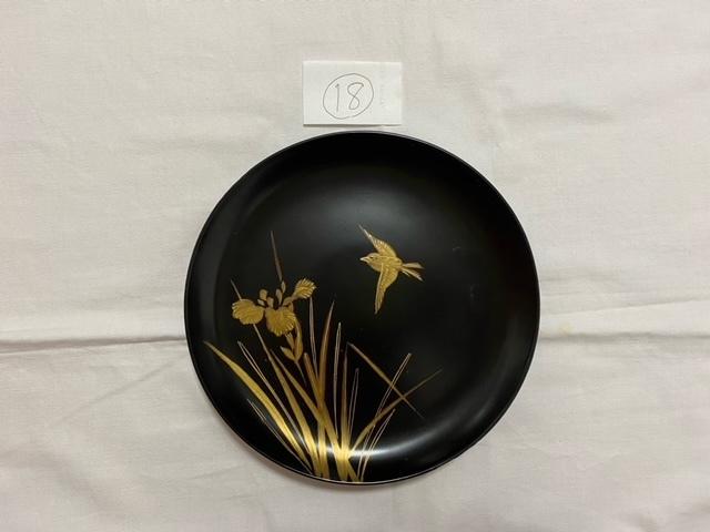 絵替わりの黒塗り蒔絵皿。_c0405112_12282913.jpeg