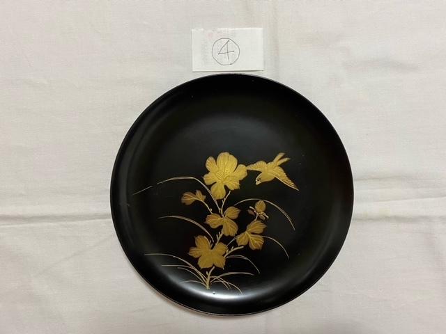 絵替わりの黒塗り蒔絵皿。_c0405112_12294830.jpeg
