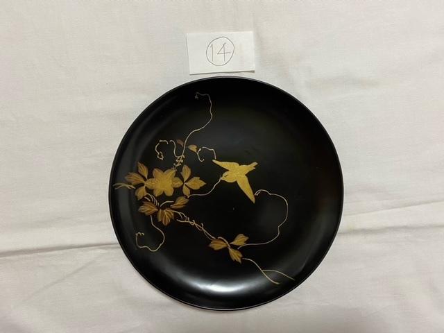 絵替わりの黒塗り蒔絵皿。_c0405112_12430895.jpeg