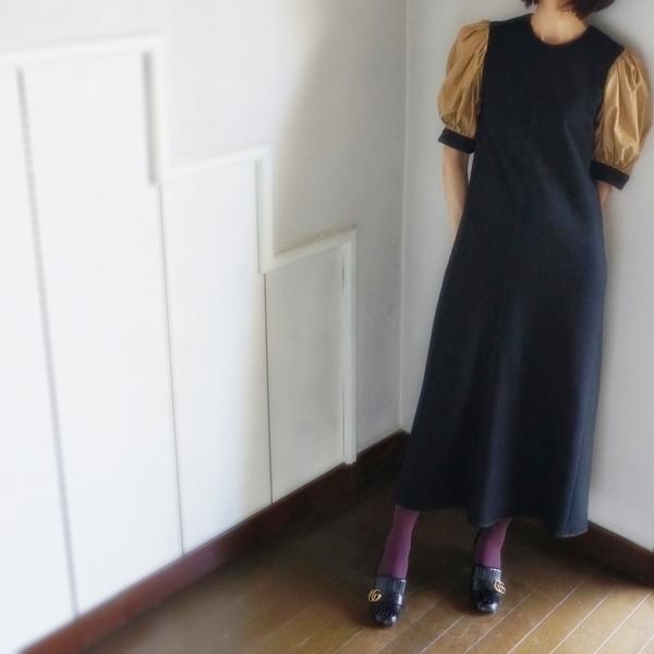 千鳥格子のドレス&リボンレザーバッグ_e0096563_15445993.jpg