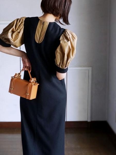 千鳥格子のドレス&リボンレザーバッグ_e0096563_15464491.jpg