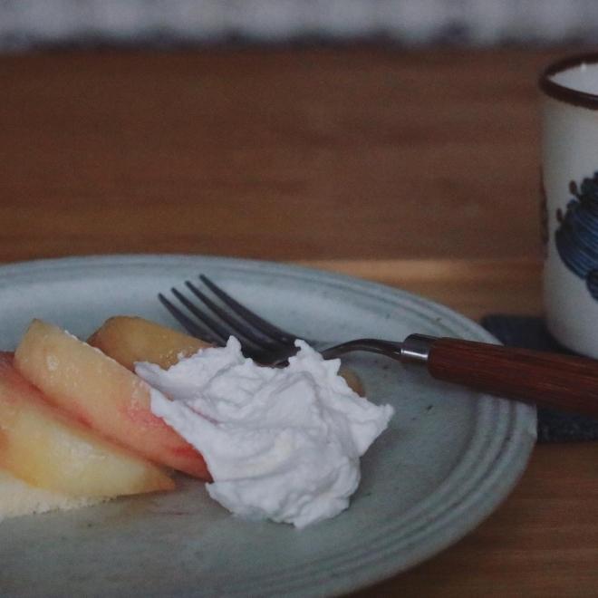 簡単 桃のケーキの作り方_b0360474_11133590.jpg