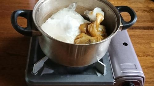 訓練!!湯煎で御飯とカレーを作りました _d0390236_08302670.jpg