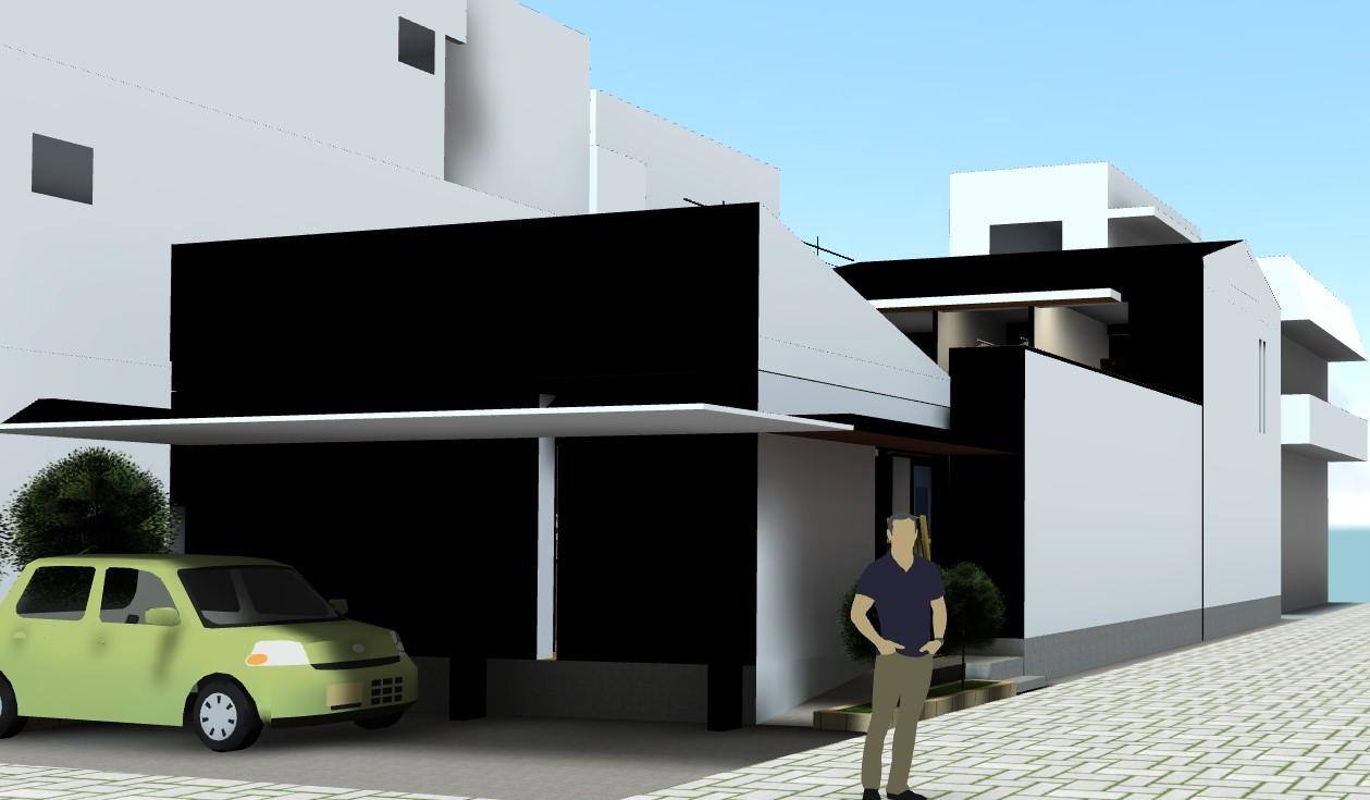 街中でもプライバシーが守れる中庭住宅_f0057011_11524659.jpg