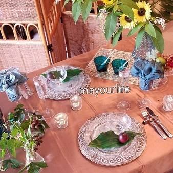 7月 マユールライラ テーブルコーディネート&フラワー教室・テーブル編_d0169179_23351075.jpg