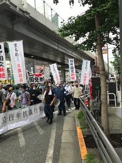 <中国共産党成立百年抗議行動>_c0290443_12514301.jpg