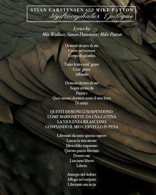 "Stian Carstensen / Mike Patton  - シングル \""Hydrocephalus Epilogue\"" リリース_e0081206_09214906.jpg"