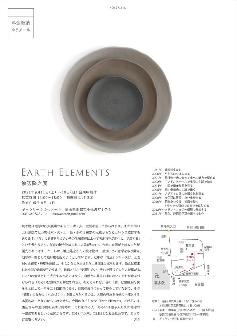 「渡辺隆之展 Earth Elements 」9/11より_d0087761_00265182.jpg
