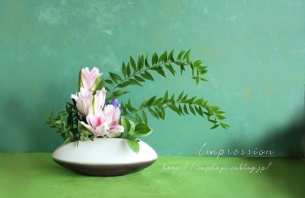 定期装花から 雪柳_a0085317_19224017.jpg