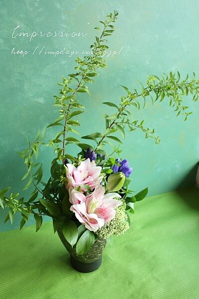 定期装花から 雪柳_a0085317_19224533.jpg