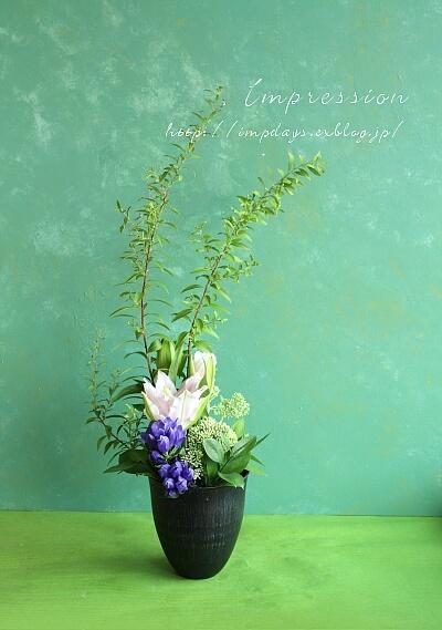 定期装花から りんどう_a0085317_19225704.jpg