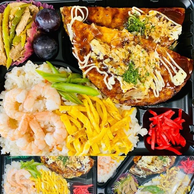ちらし寿司&お好み焼き弁当_d0355765_09593087.jpeg
