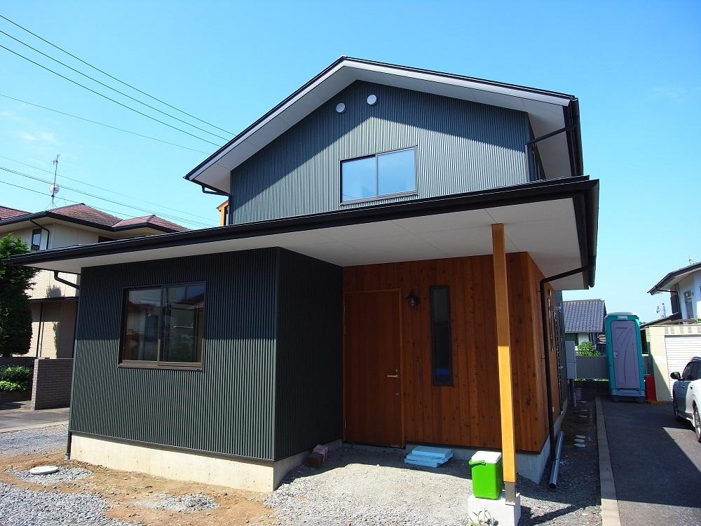 千波の家 まもなく完成 2021/8/30_a0039934_15051409.jpg