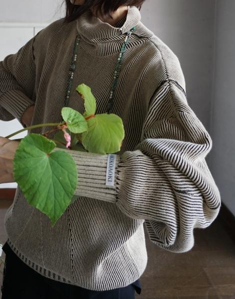 AKIKOAOKI Dual face knit_e0096563_22283636.jpg