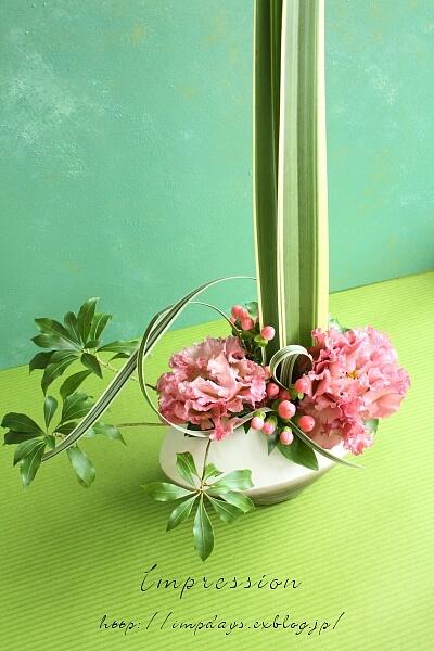 定期装花から トルコギキョウ_a0085317_18392330.jpg