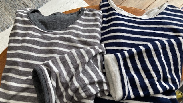 新作リバーシブルTシャツはナチュラルボーダー♪_d0108933_23241648.jpg