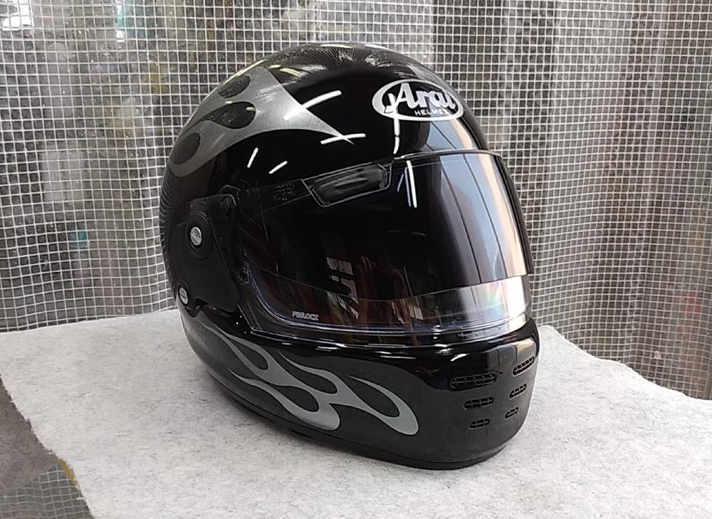 アライヘルメット謹製RAPIDE-NEOていう2輪用ヘルメットをペイントしてみた。_d0130115_18513037.jpg