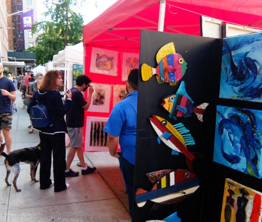 1931年から90年超続くNYの野外アート展、Washington Square Outdoor Art Exhibit_b0007805_04231811.jpg