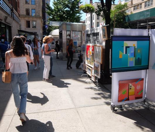 1931年から90年超続くNYの野外アート展、Washington Square Outdoor Art Exhibit_b0007805_04235221.jpg