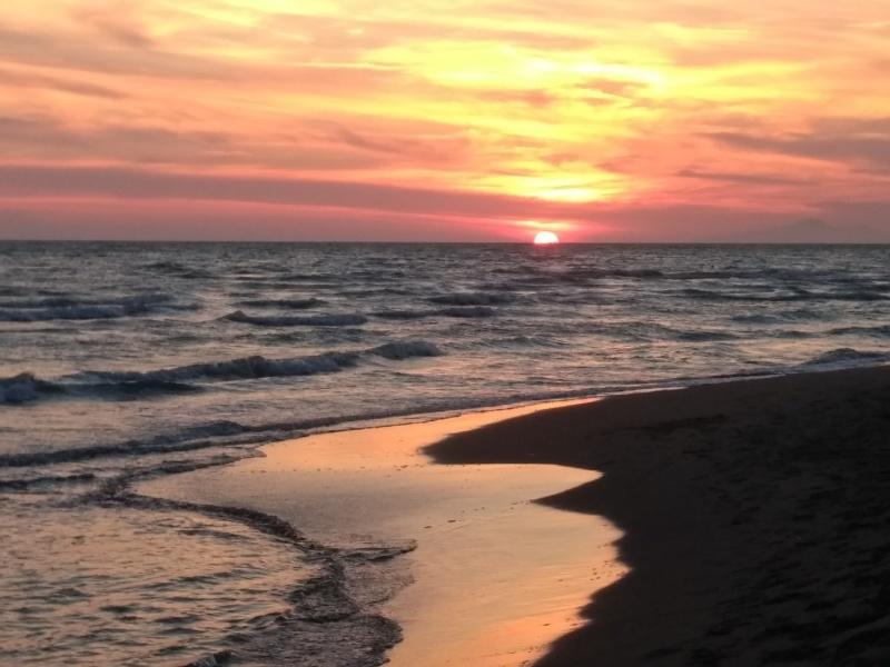 海で泳ぎ夕日を愛でて今日はトレッキング_f0234936_16292531.jpg