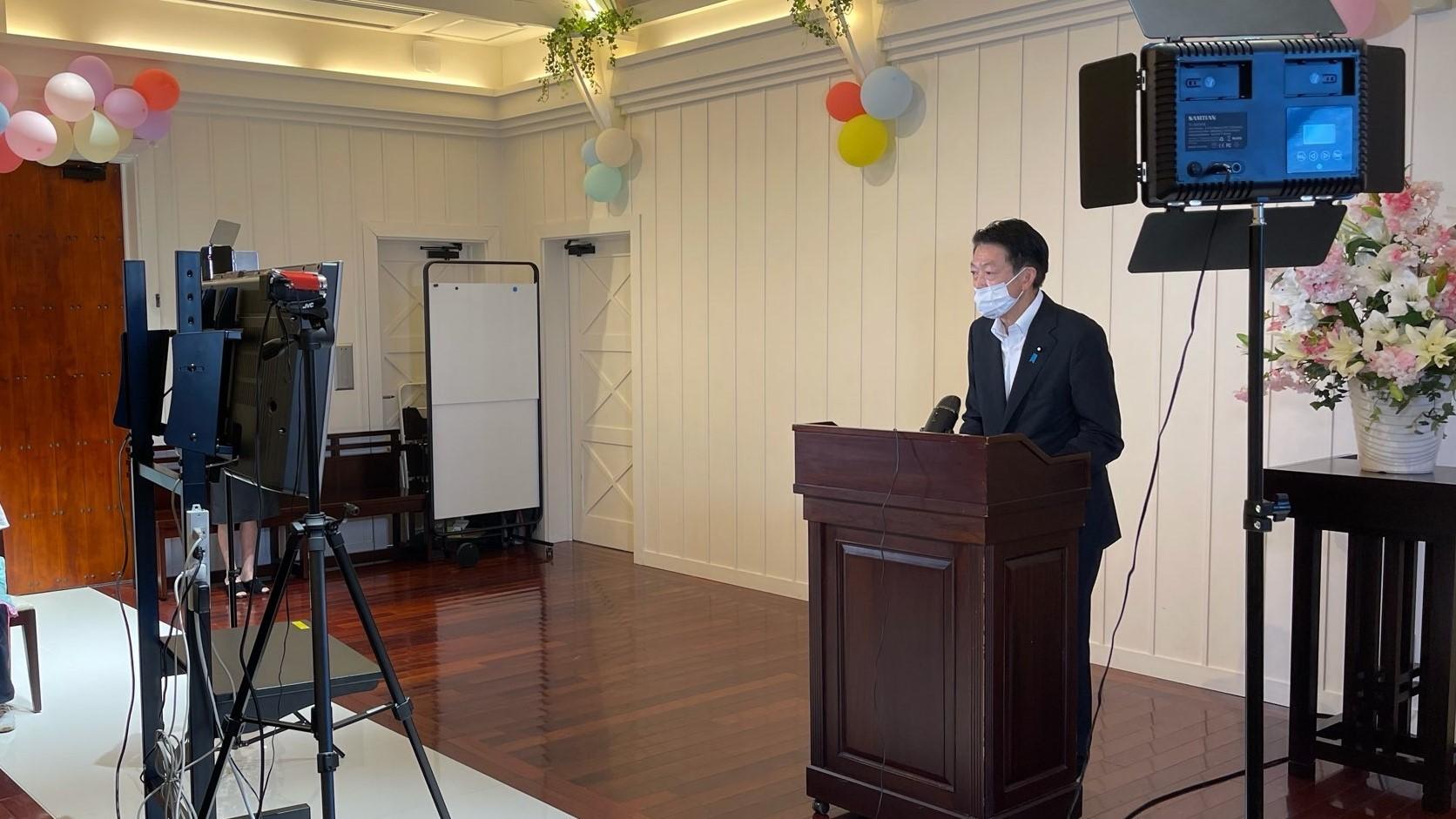 武藤容治先生が激励訪問にお越しくださいました_e0138299_15480176.jpg