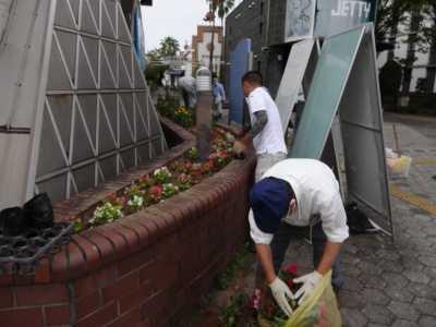 ガーデンふ頭総合案内所前花壇の植替えR3.9.13_d0338682_16172031.jpg